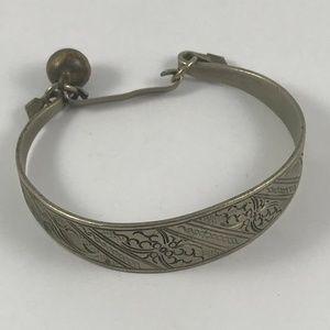 Vintage Silver Bracelet Vintage Silver Tone Bangle